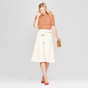 Who What Wear turtle dove faux leather skirt